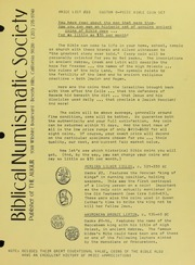 Biblical Numismatic Society Price List No. 20