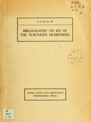 ... Bibliography on ice of the northern hemisphere ..