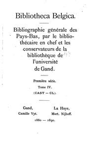Bibliotheca belgica: Bibliographie générale des Pays-Bas