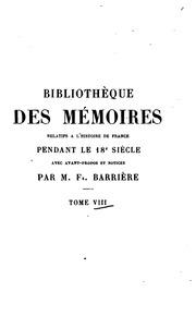 Bibliotheque des mémoires relatifs a lhistoire de France