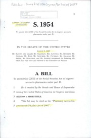 A bill to amend title XVIII of the Social Security Act to improve access to pharmacies under part D