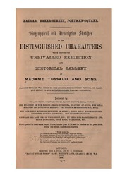 ... Biographical and Descriptive Sketches of the Distinguished Characters which Compose the ...