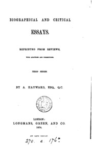 Essay Time Management  Examples Of College Essays also Small Essays In English Biographical And Critical Essays Reprinted From Reviews  English Essay Writer