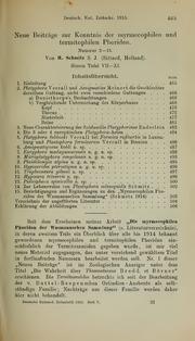 Vol 1915: Neue Beitrage zur Kenntnis der myrmecophilen und termitophilen Phoriden