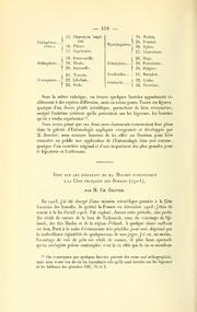 Vol 1911: Note sur les résultats de la Mission scientifique à la côte française des Somalis (1904)