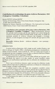 Vol 115: Contribution à la systématique du genre Aethiessa Burmeister, 1842 Coleoptera: Cetoniidae: Cetoniinae