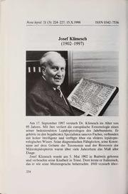Vol 21: Josef Klimesch 1902-1997