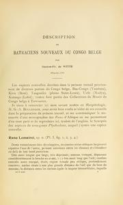 Vol 9: Batraciens nouveaux du Congo Belge