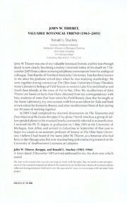 Vol 22: JOHN W. THIERET, VALUABLE BOTANICAL FRIEND 1965-2005