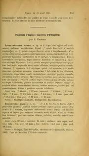 Vol 1919: Diagnoses d-espèces nouvelles d-Orthoptères