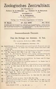 Vol 13: Ueber die Biologie der Ameisen