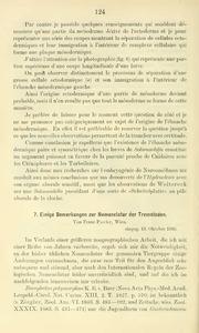 Vol 31: Einige Bemerkungen zur Nomenclatur der Trematoden