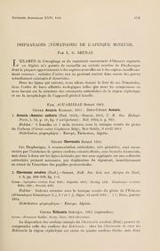 Vol 26: Dispharages (Nematodes) de l-Afrique mineure