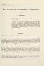 Vol 14: Quatre nouvelles especes asiatiques du genre Apristus Chaudoir Insecta, Coleoptera, Carabidae