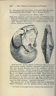Vol 1: X.—Description of a new species of Nautilus from the lower greensand of the Isle of Wight