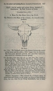 Vol 4: XLII.—On the extinct and existing bovine animals of Scandinavia