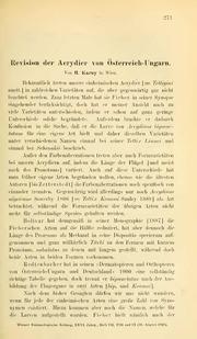 Vol 26: Revision der Acrydier von Österreich-Ungarn
