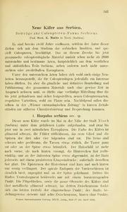 Vol 29: Neue Käfer aus Serbien
