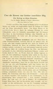 Vol 32: Über die Rassen von Carabus cancellatus ILLIG. Ein Beitrag zu deren Kenntnis
