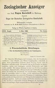 Vol 29: Ueber die Geschlechtsverhaltnisse der Cephalopoden