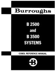 burroughs :: B2500 B3500 :: 1033099 B2500 B3500 COBOL Sep70