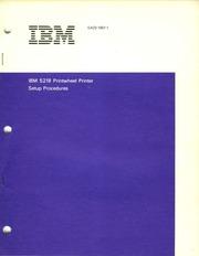 ibm :: 6580 Displaywriter :: GA23-1007-1 IBM 5218 ...