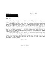 Del Bland Correspondence, 1991 to 1999