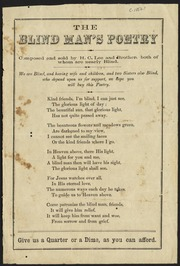 The Blind Man S Poetry Lee H C Mendicant Poet Free