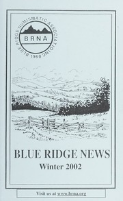 Blue Ridge News: Winter 2002