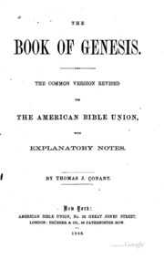 The book of Genesis : the common version revised for the