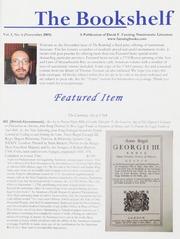 The Bookshelf: Vol. 1 No. 6, November 2009