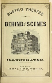 Booth's theatre : Behind th...