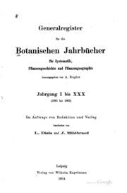 Botanische Jahrbücher für Systematik, Pflanzengeschichte und Pflanzengeographie
