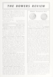 The Bowers Review, Issue No. 1