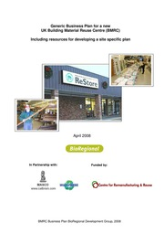 Business Plans: Business Plan For A New UK Building Material Reuse Centre