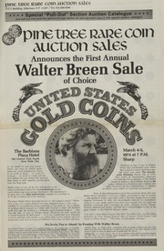 Walter Breen Sale of Choice United States Gold Coins