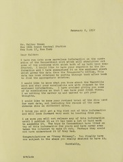 Walter H. Breen Correspondence, File 2, 1957-1978 (pg. 85)