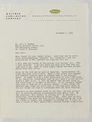 Kenneth Bressett Correspondence File 2, 1961-1978