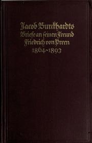 Briefe an seinen Freund Friedrich von Preen, 1864-1893
