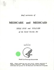 establishment of medicare and medicaid in social security act in united states Did not require the waiving of any requirements in the social security act managed care authority can be used by states to permit implementation of their medicaid aco programs if the.