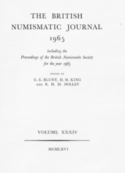 The British Numismatic Journal and Proceedings of the British Numismatic Society