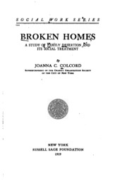 broken homes a study of family The survey was timed to mark resolution's family dispute resolution week new homes, new schools, all broken homes make troubled teens - study.
