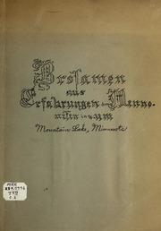 Brosamen aus Erfahrungen der Mennoniten in u. um Mountain Lake, Minnesota.