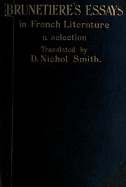 essays in french literature Essays in french literature is a fully refereed journal based at the university of western australia for all information on the journal, please see:.