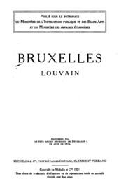Bruxelles, Louvain