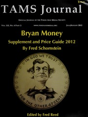 Bryan Money Supplement and Price Guide 2012, Vol. 52, No. 4(2)