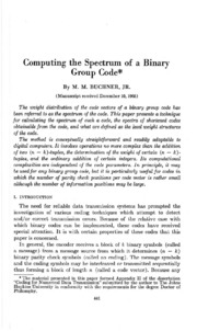 an overview of binary codes in computing Overview this chapter describes the most commonly used binary codes learn more about chapter 4: binary codes on globalspec.
