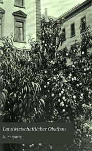 Landwirtschaftlicher Obstbau; Vorschläge zur Reorganisation