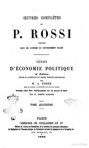 Oeuvures Completes De P. Rossi