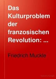Das Kulturproblem der franzosischen Revolution